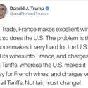Trump contro vino francese